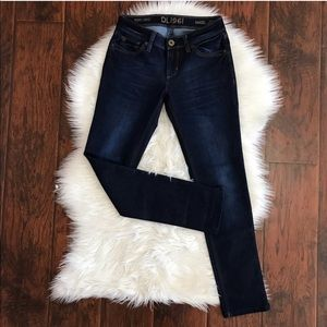 DL1961 Angle Mid Rose Dark Wash Skinny Ankle Jeans